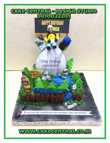 Stunning Nature Sports Designer Cakes| Mt Everest Themed Cake with Online Delivery Delhi