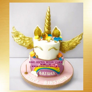 Flying Unicorn Cake with Wings in Delhi Online