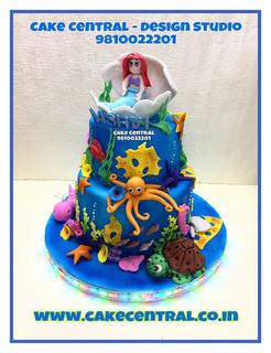 Little Mermid Cake Delhi | Disney themed Cakes birthday |Baby & Children Designer Cakes Noida ,Gurgaon Delhi NCR