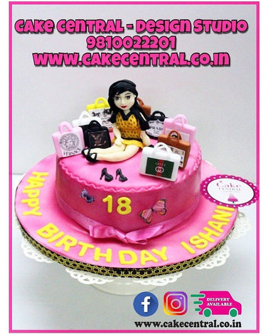 Born to Shop Cake in Delhi