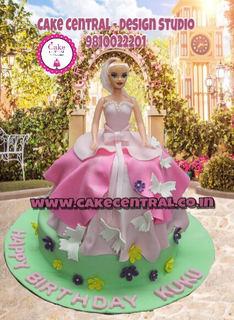 Beautiful Barbie Doll Cake in Delhi Online / Kids birthday