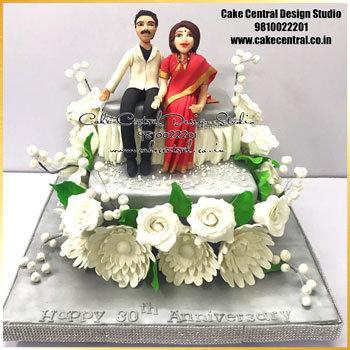 Parents Wedding Anniversary Cake Delhi Online