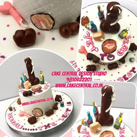 Naughty Bacherlorette Cakes Online in Delhi