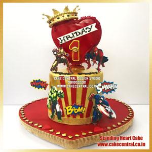 3D Heart Cake Delhi Online