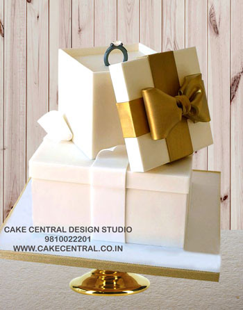 Ring Box Engagement cake designs  in Delhi Online
