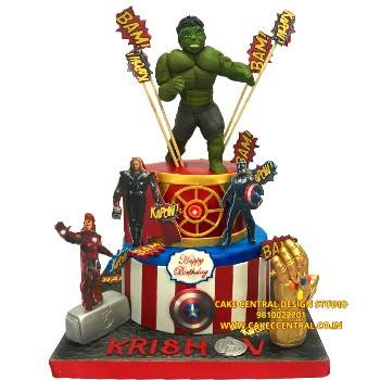 Hulk & Avengers Cake in Delhi , Noida & Gurugram