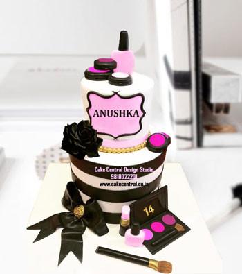 2 tier Luxury Makeup Cake Delhi Online
