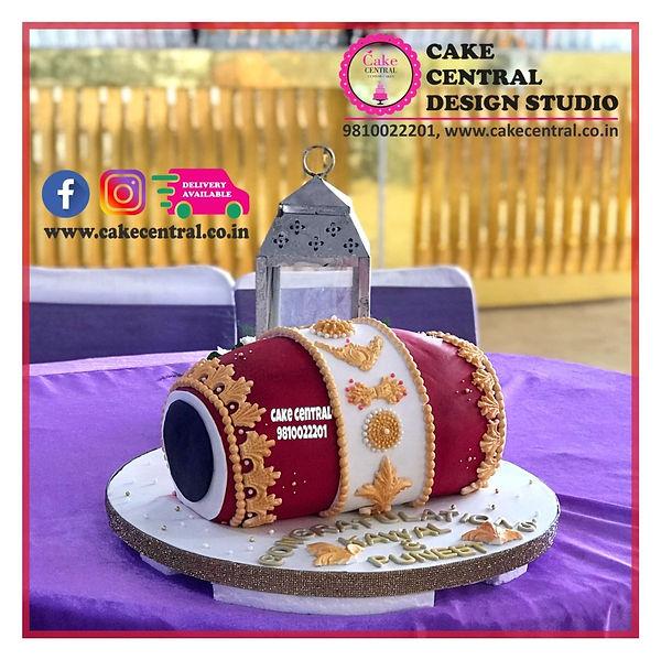 Dhol Dholki Mehndi Cake in Delhi