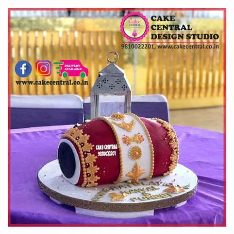 Dhol / Dholki Cake Delhi   4D / 3D Dhol Wedding Cake Delhi   Online Cake Delivery Delhi , Noida , Gurgaon , Cake Central - Premier Cake Design Studio , New Delhi , Delhi