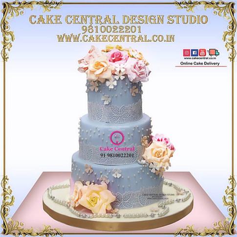 Blue_Roses_Wedding_Cake_Delhi_Online