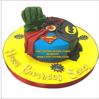 Avengers Birthday Cakes Online in Delhi , Noida & Gurgaon