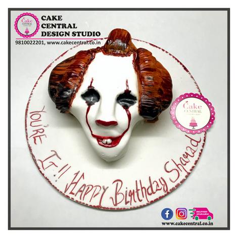 Joker Halloween Clown Cake Delhi