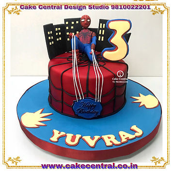 Spiderman Cakes in Delhi Online - 3D Spiderman Designer Birthday Cakes