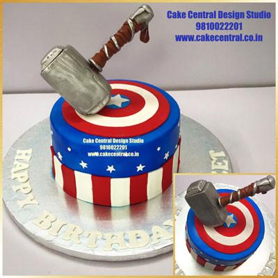 3D Avenger Cakes Images Online in Delhi , Noida & Gurgaon