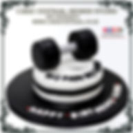 Dumbbell /Gym Designer Cake of Cake Central Design Studio 3D Custom Cakes in Delhi Online