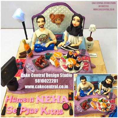 Wedding Anniversary Bed Cake