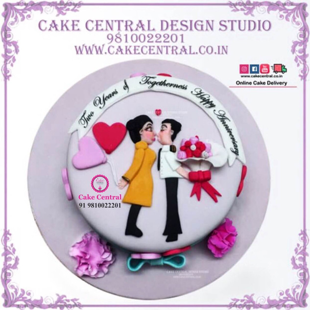 Romance & Kiss theme Cake in Delhi Online