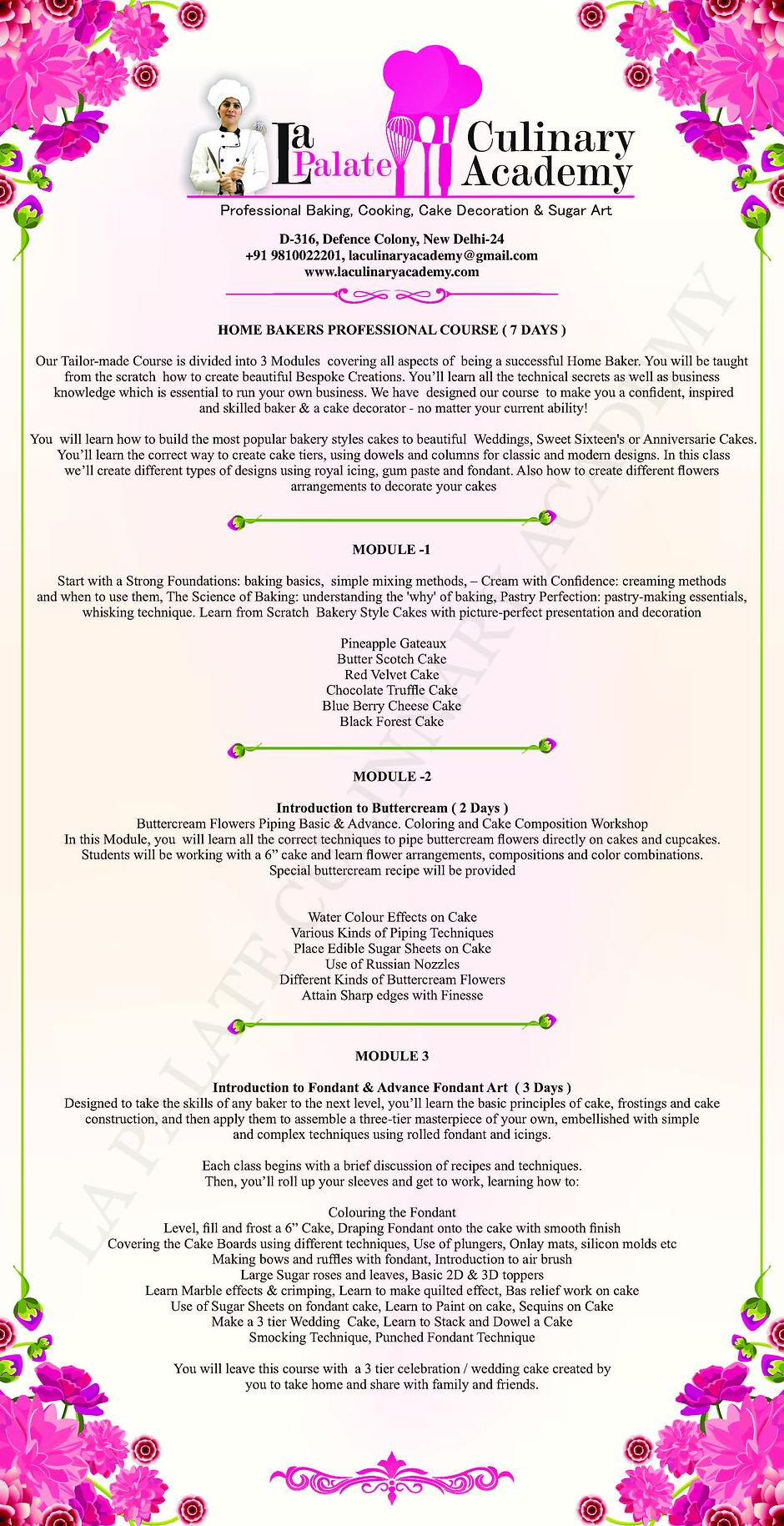 Professional Baking Classes & Courses Delhi, Cake Decoration Classes Delhi  , Sugar & Fondant Craft Courses & Classes in Delhi , South Delhi , New Delhi, Cookery Classes Delhi i – La Palate Culinary Academy.