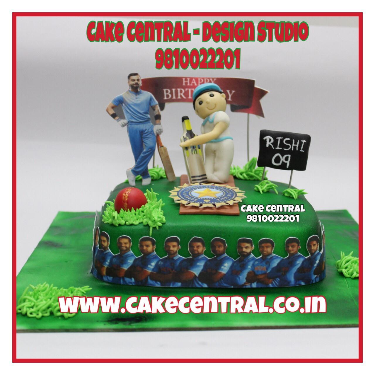 Cake Design Company Noida : Cricket theme Birthday Cake Delhi Online Cake Delivery ...