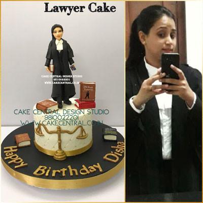 Female Lawyer Birthday Cake in Delhi Online