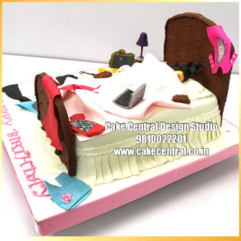 Lazy Girl Bed Cake Delhi