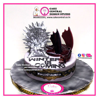 Iron throne, Dragon Winter is Coming theme Game of thones Cake in Delhi