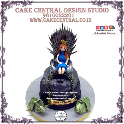 Birthday Girl Iron Throne Game of Thrones Cakes in Delhi Online Delivery