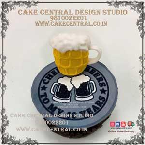 Alchohal /Beer theme Cupcakes in Delhi Online
