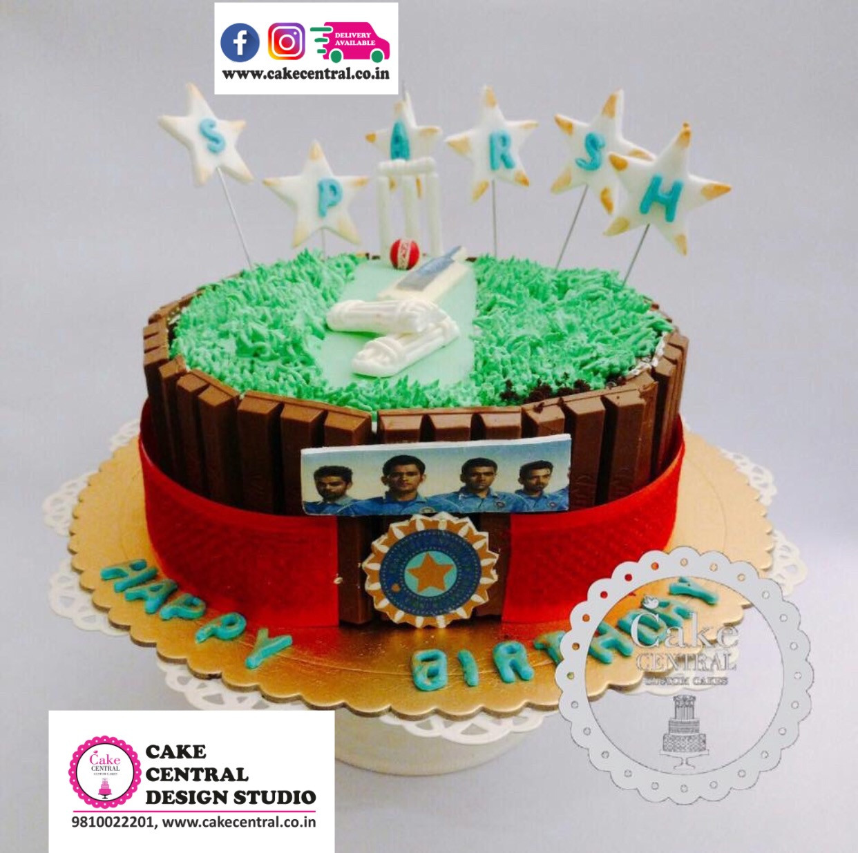 Cricket Pitch Cake Theme Cakes Near Me Online With Delivery Central
