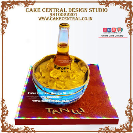 Ice Beer Bucket Theme Cake Design in Delhi, Noida & Gurgaon Online