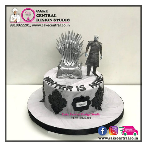Silver Game of Thrones Cakes