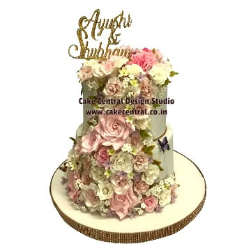 Floral Wedding Engagement Cake in Delhi Online