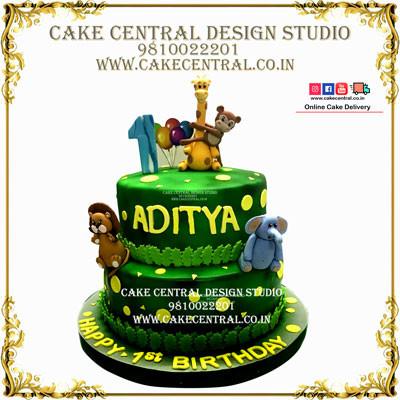 2Tier Jungle Cake in Delhi Online
