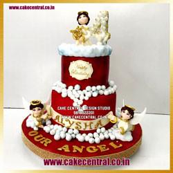 1st Birthday Angel Cake Design in Delhi Online