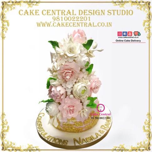 Floral Wedding Cake Delhi Online