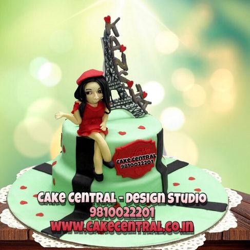 Eiffel tower Paris Birthday Cake Delhi