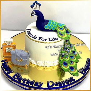 Krishna Peacock Cake Delhi Online