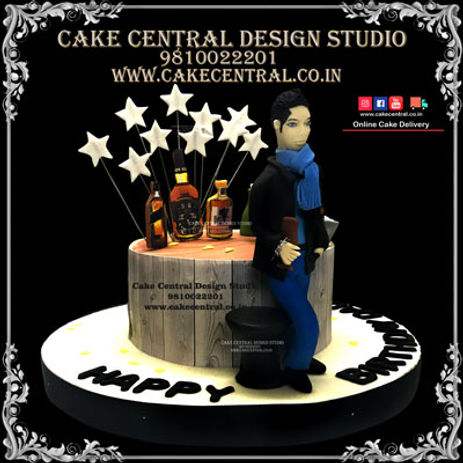 Drinking Pub /Bar Themed Birthay Cake Design in Delhi Online
