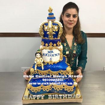 Baby Krishna Cake for 1st Birthday in Delhi