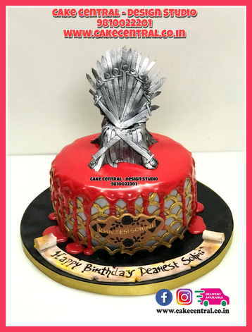 Iron Throne Shaped Cake in Delhi