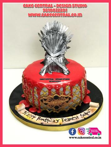 Iron Throne Shaped Cake in Delhi
