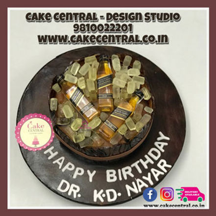 Whisky Barrel Birthday Cake Design in Delhi ,Noida & Gurgaon
