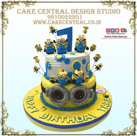2 Tier Minion Cake in Delhi Online