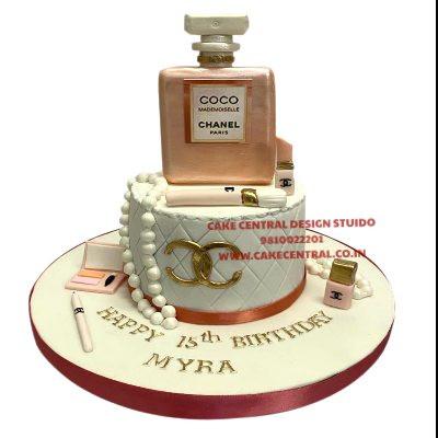 Order Coco Chanel Perfume Birthday Cake In Delhi online