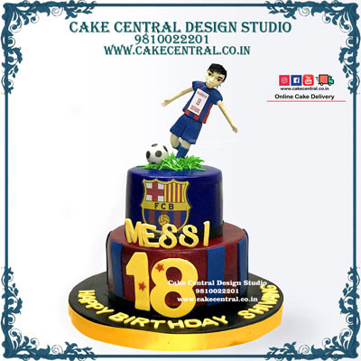 FC Barcelona Messi Cake in Delhi Online