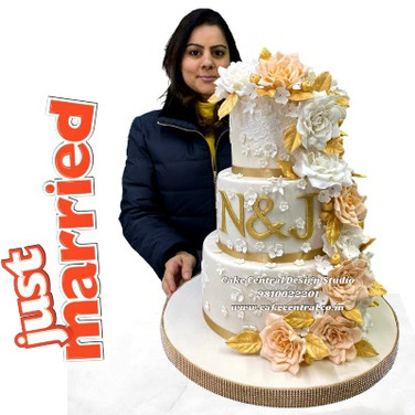 White Wedding Cake in Delhi Online