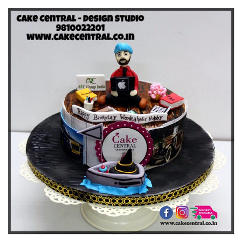 Order Workaholic Boss Cake Delhi, Gurgaon , Noida  | Workaholic Colleague Cake | Workaholic Cake Delhi | Online Cake Delivery Delhi , Nodia , Gurgaon , Cake Central - Premier Cake Design Studio , New Delhi, Delhi