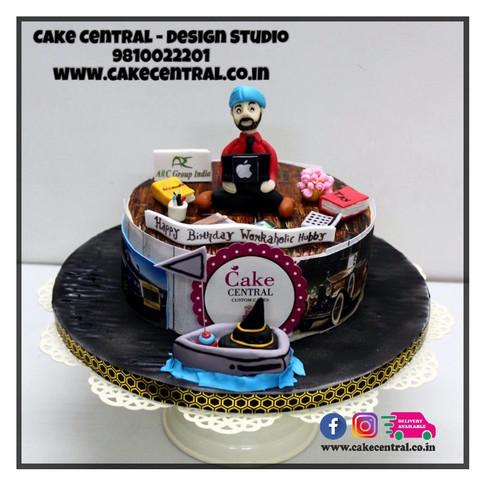 Order Workaholic Boss Cake Delhi, Gurgaon , Noida    Workaholic Colleague Cake   Workaholic Cake Delhi   Online Cake Delivery Delhi , Nodia , Gurgaon , Cake Central - Premier Cake Design Studio , New Delhi, Delhi