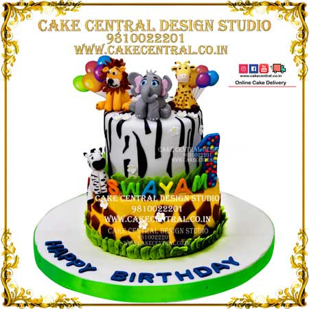 Jungle Theme Cakes for Baby Birthay in Delhi Online