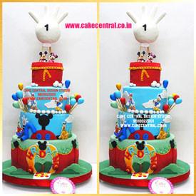 Mickey & Friends 1st Birthday Cake Delhi